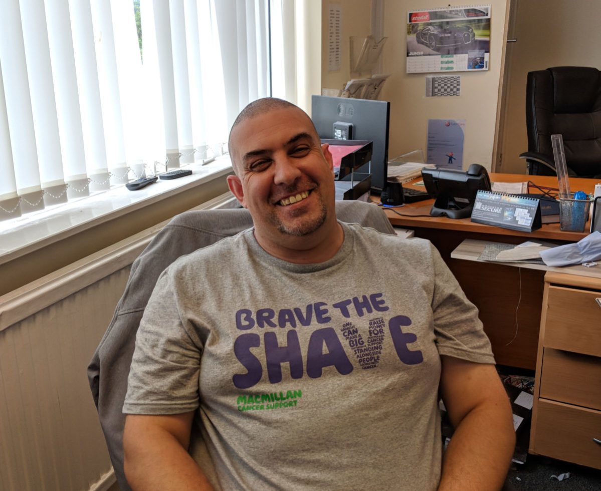 Chris after he braved the shave