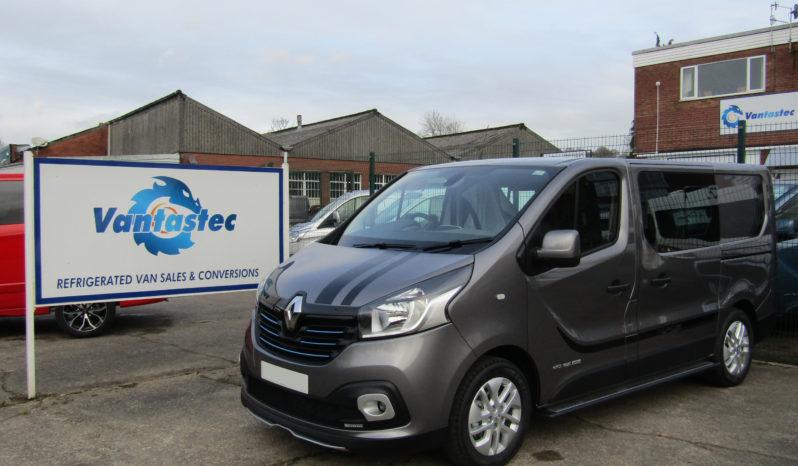 Oyster grey Renault Trafic sport+crew van as converted by Vantastec