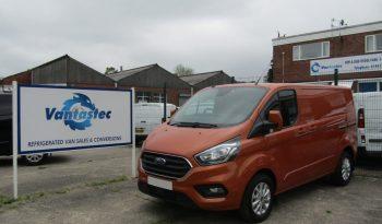 3/4 view of orange Ford Transit Custom panel van