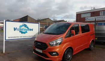 3/4 view of Vantastec's Orange Ford Transit Custom TEC+