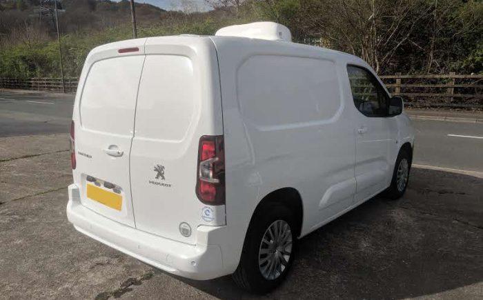 Peugeot Partner Fridge Van from 3/4 rear view