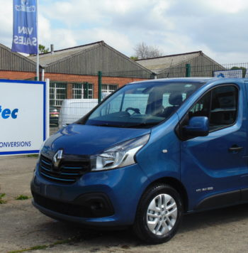 SL27 Blue Renault Trafic crew van as converted by Vantastec