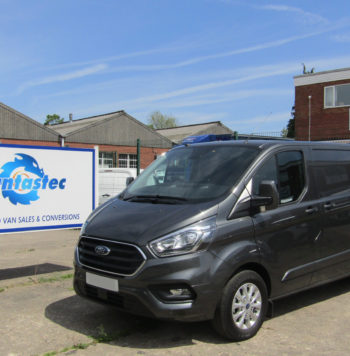 Metallic Grey Ford Transit Custom Panel Van as converted by Vantastec