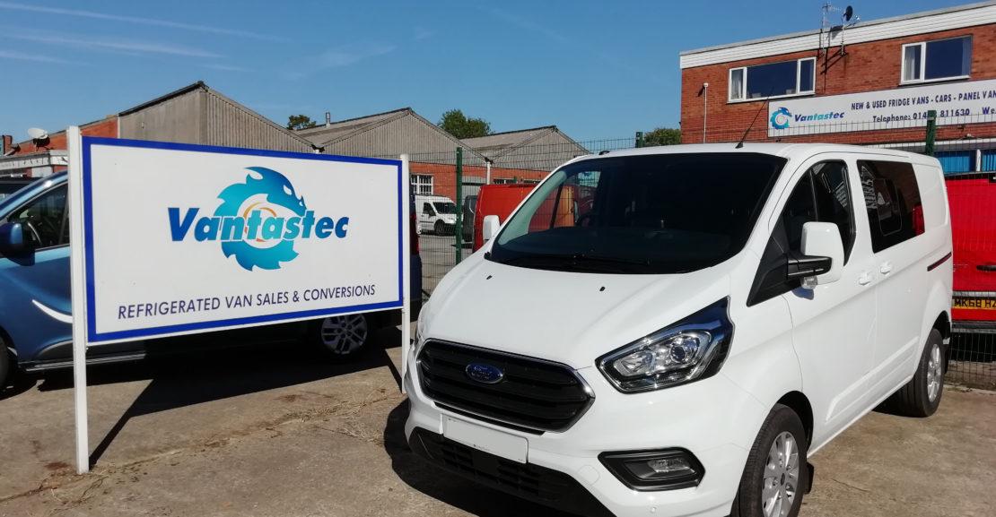 White Ford Transit Custom Crew van as converted by Vantastec Crew van as converted by Vantastec