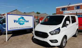 White Ford Transit Custom Crew van as converted by Vantastec Crew van as converted by Vantastec