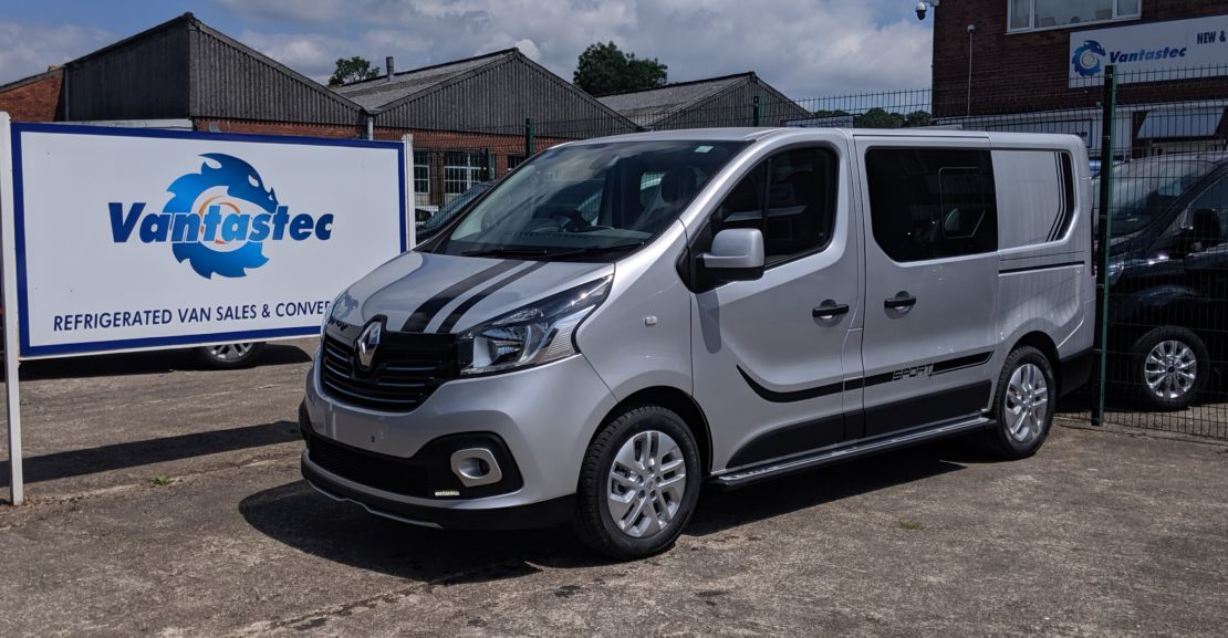 Silver Renault Trafic Sport + SL27 as converted by Vantastec