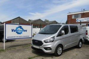 Silver L1H1 Ford Transit Custom as converted by Vantastec
