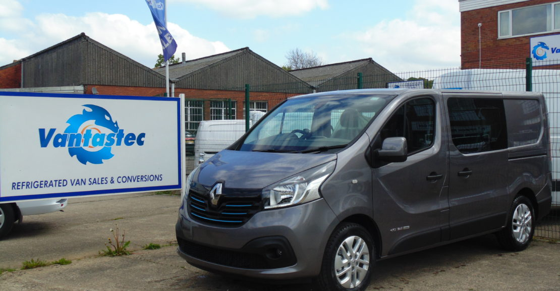 Oyster Grey Renault Trafic crew van as converted by Vantastec