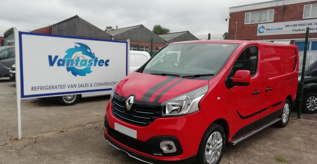 Red Renault Trafic Sport + panel van as converted by Vantastec