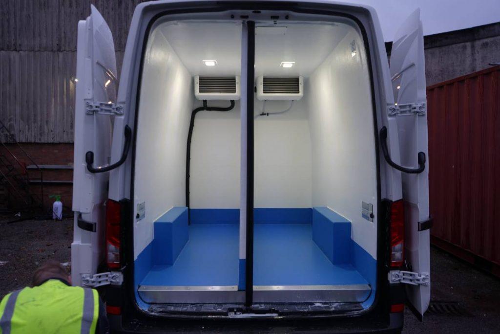 Split Compartment Refrigerated Van