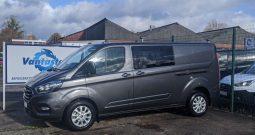 Ford Transit Custom 320 L2H1 185PS Auto LTD Crew Van With Leather Seats